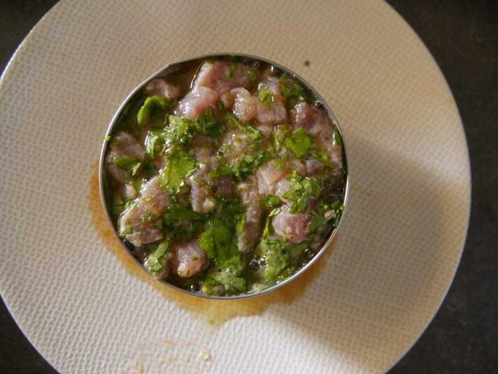 Tartare de thon à la mangue étape 3